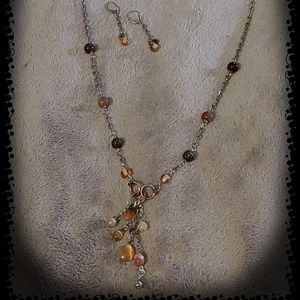 Handmade Silver Necklace with matching Earrings